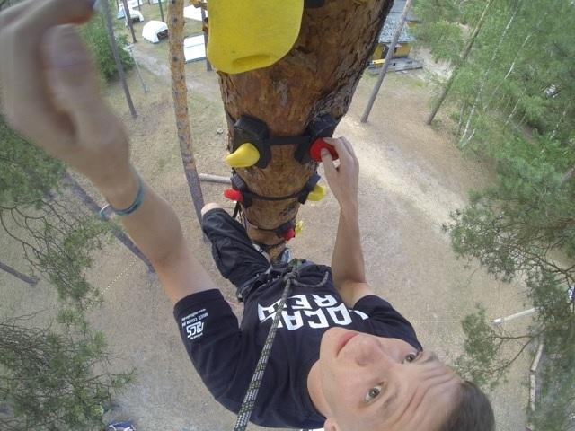 ab auf die Bäume, Monkey klettern